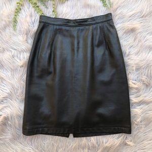 Saks Fifth Avenue Leather Pencil Skirt